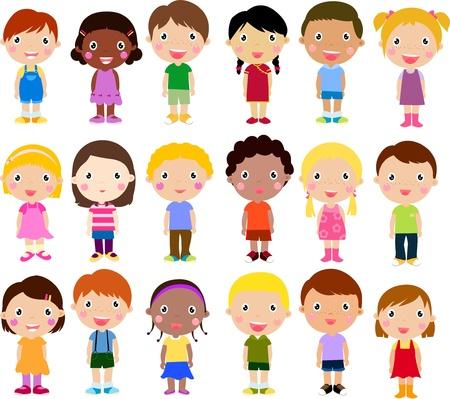 Groupe d'enfants Banque d'images - 21152145