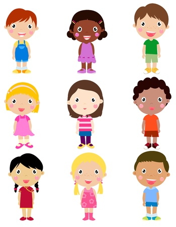 stylised: Group of children