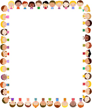 Kinder und Rahmen Standard-Bild - 21152189