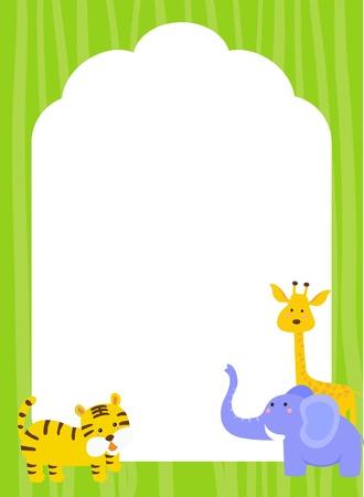 zoo youth: animal frame Illustration