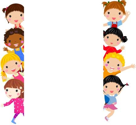 los niños y el marco