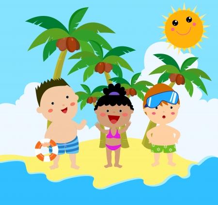 beach game: summer Kids Illustration