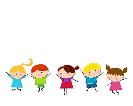 nursery school: Group of children
