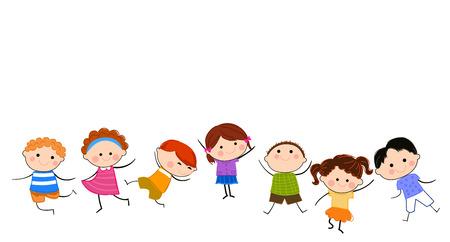 Grupo de niños Foto de archivo - 24517862
