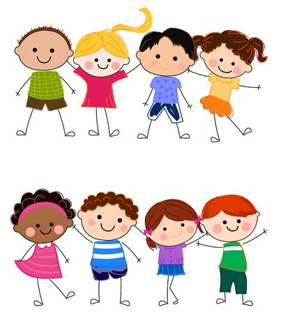 Groupe d'enfants Banque d'images - 24517942