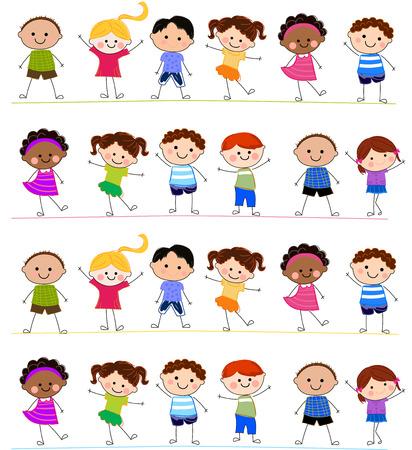 Gruppo di bambini Archivio Fotografico - 24517961
