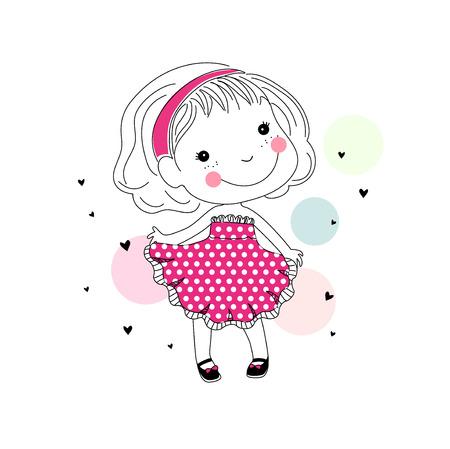 trendy girl: cute little girl