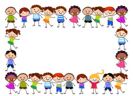 Crianças felizes Foto de archivo - 25461643