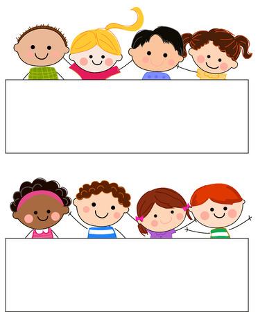 Niños y marco Foto de archivo - 24517991