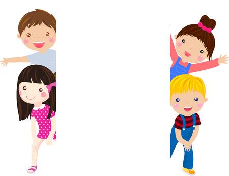 enfant qui sourit: Des enfants heureux