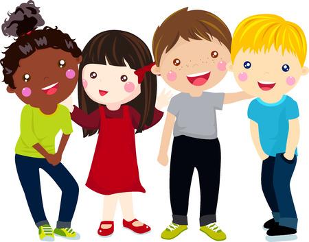 Group of children Banco de Imagens - 26819320