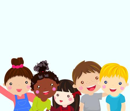 bebes lindos: Marco de chicos lindos dibujos animados