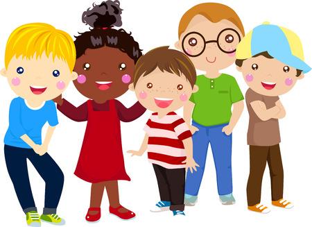 trẻ em: Trẻ em hạnh phúc Hình minh hoạ