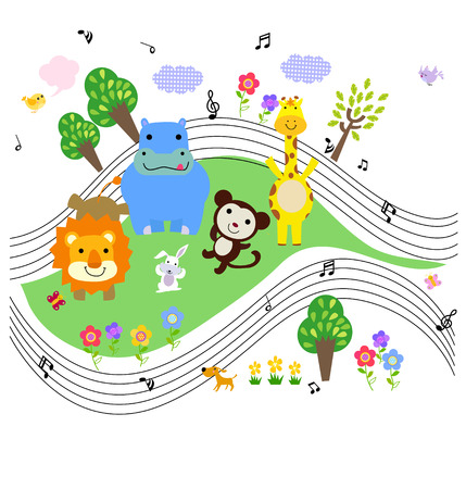 Animals music Vector