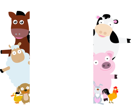 farm animal frame Vector