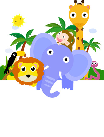 animals frame: animals and frame