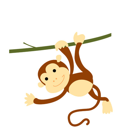 cute cartoon monkey: Funny monkey cartoon