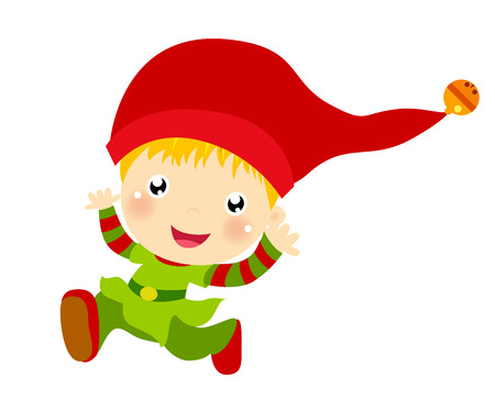 Cute Christmas elf set Vector