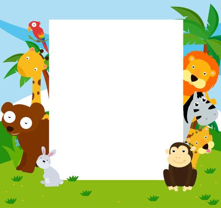 giraffe frame: Animals