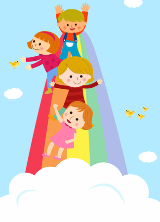 gir: Kids and rainbow