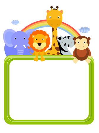 Animals and banner Vector
