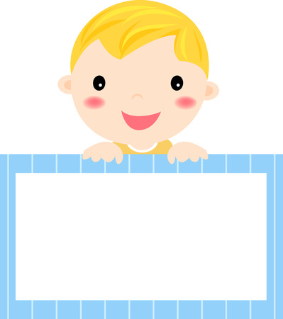 pediatrics: Baby and banner Illustration