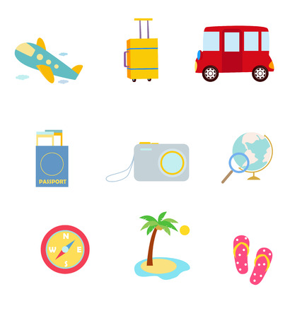 travel icon: vector reizen pictogram