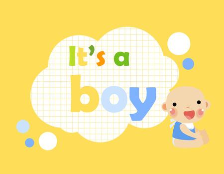 its a boy: Baby card - Its a boy