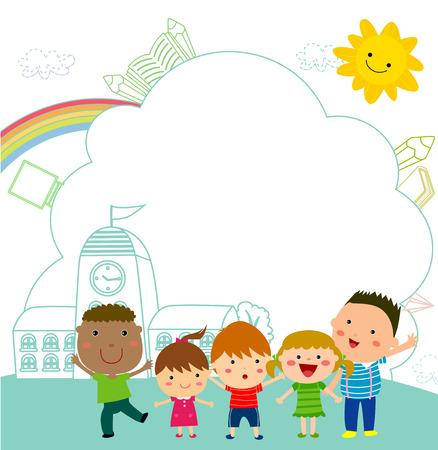 Les enfants et les châssis Banque d'images - 30631063
