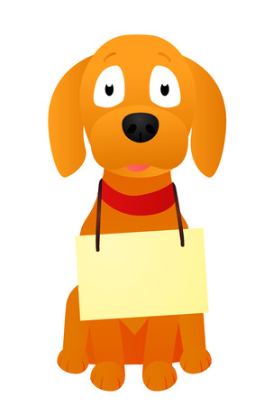 trained: Puppy with a banner Illustration