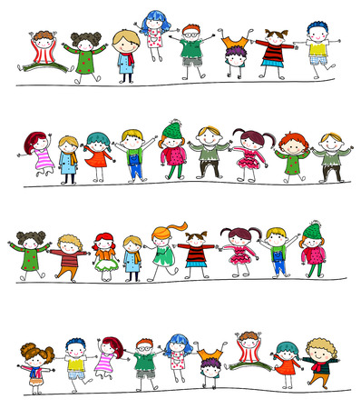 Group of children Vector