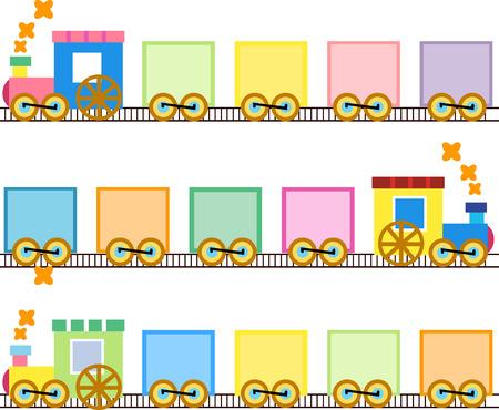 Trenes lindos Ilustración de vector