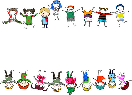 active life: Group of children