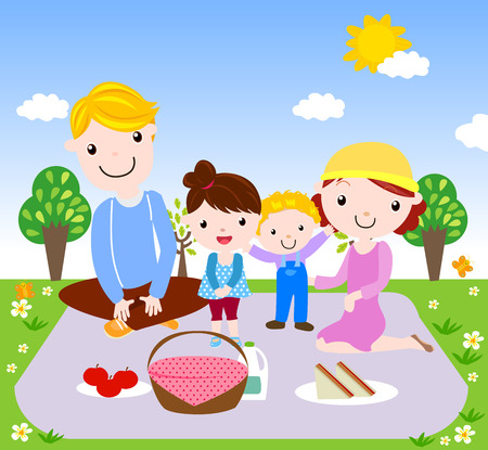 Family time Vector