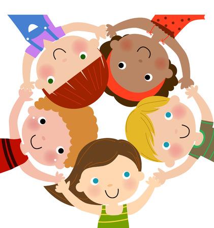 kids around background Illustration