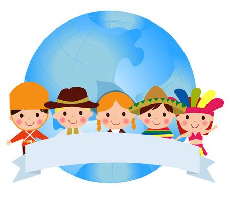 Wereld kinderen Stock Illustratie
