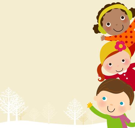 neckscarf: winter kids frame