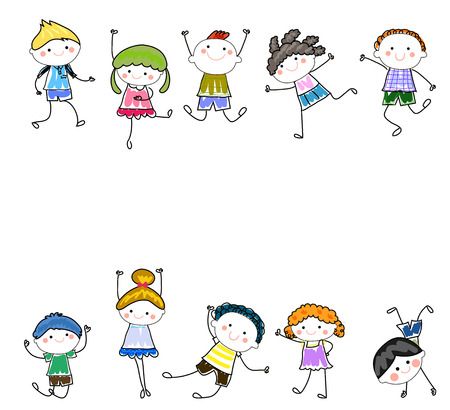 幸せな子供  イラスト・ベクター素材