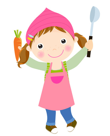 little chef: Cute little chef Illustration