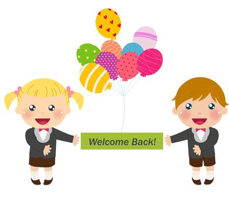go back: Welcome back to school Illustration