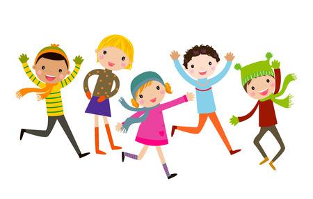 子供たちのグループ  イラスト・ベクター素材