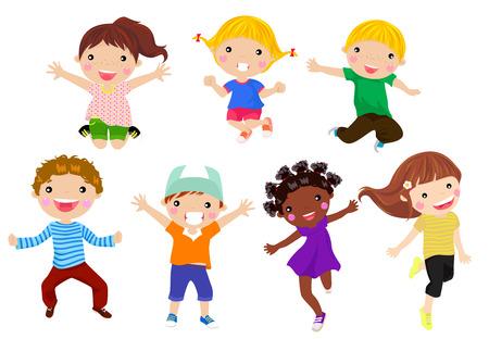 Bambini Che Ridono Vettoriali, Illustrazioni E Clipart