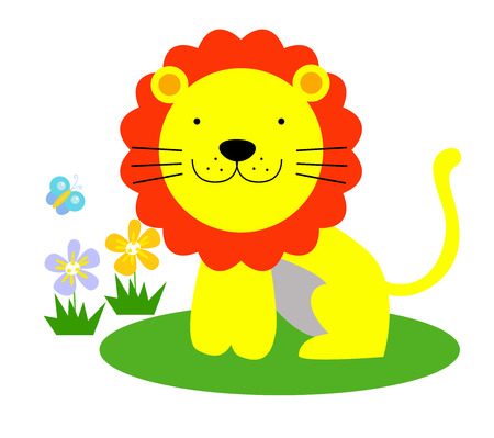 cub: Cute lion Illustration