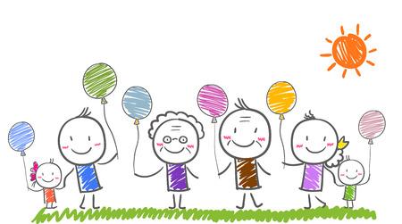 子供たちと大家族