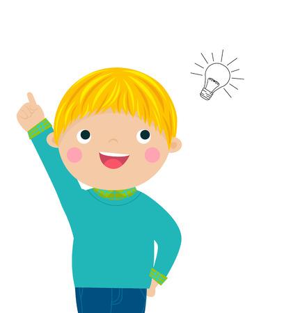 Boy with a good idea Vector Illustration