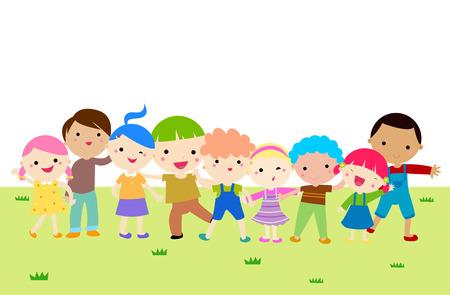 summer school: Group of kids