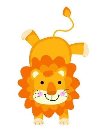 a cute Lion Illustration