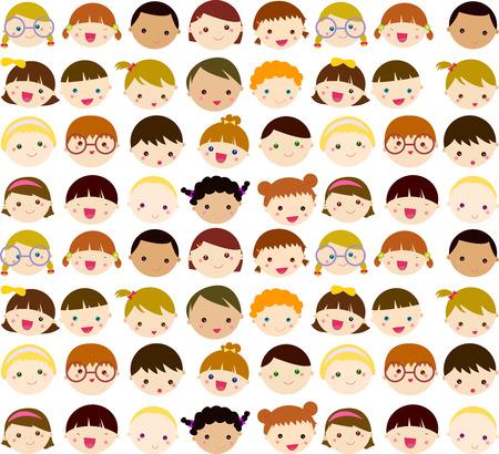 little colours: Kids face set