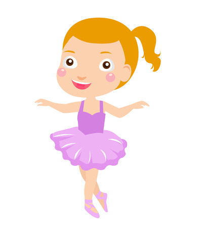 Little ballet girl Vector