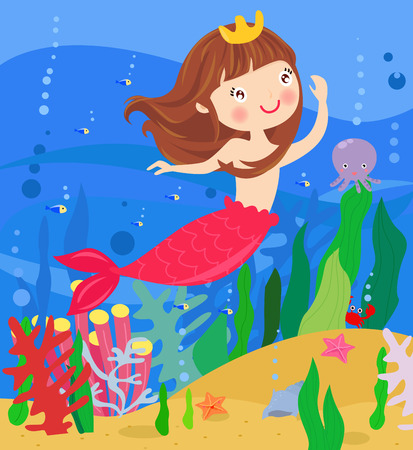 fairy tale mermaid: Cute mermaid